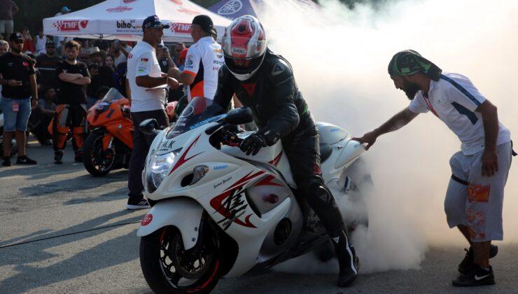 Motodrag yarışları nefes kesti