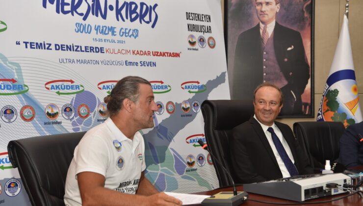 Mersin'den Kıbrıs'a yüzecek